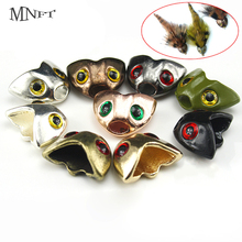 MNFT 5PCS Multiple Color Skull Sculpin Helmet Fish Flies Weighted Streamers Fly Tying Material