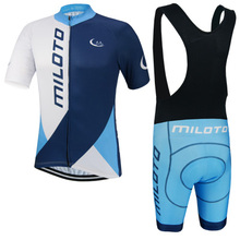 NEW Blue White Team cycling jersey/ cycling clothing/Breathable sports wear cycling wear Free Shipping customize(China)
