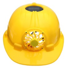 Safurance Yellow Solar Power Safety Helmet Work Hard Hat Solar Panel Cooling Fan Workplace Safety