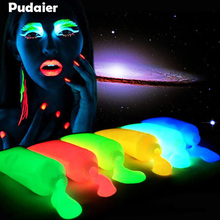 Pudaier 10pcs Neon Fluorescent Face Body Paint Painting Art Glowing Halloween Party Fancy Dress Beauty Makeup Tool Flash Tattoo(China)
