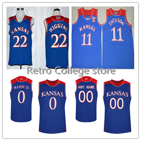 #11 Josh Jackson,Kansas Jayhawks #0 Frank Mason III #22 Andrew Wiggins College Basketball Jerseys,2016-2017 New Style Stitched N(China (Mainland))