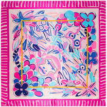 90cm*90cm New Fashion Silk Square Scarf Women Imitated Silk Euro Style Flower and Monkey Printed Scarves Shawl Hijab