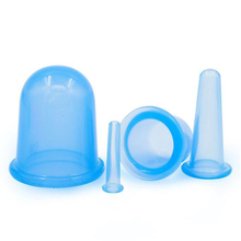 4 Pcs Silicone Massage Vacuum Body Facial Suction Cupping Cups Medical Therapy(China)