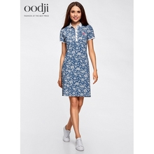 oodji 2017 Dress Polo pique fabric free shipping across Russia 24001118247005 170 cm oodji 2017 Women Dress Shipping