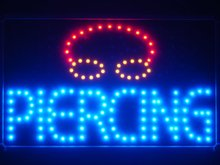 led031-b Piercing LED Neon Light Sign with Whiteboard Wholesale Dropshipping(China)