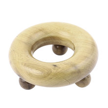 UXCELL Wood 3 Round Ball Legs Body Stress Release Handy Massager Beige