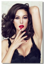 Custom Canvas Wall Murals Sexy Monica Bellucci Poster Monica Bellucci Wall Papers Italy Star Model Sticker Bar Cafe Decor #0171#(China)