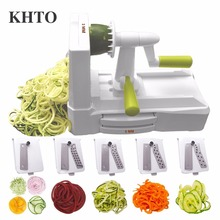 KHTO 5-Blade Vegetable Spiral Slicer Cutter Mandoline Chopper Kitchen Cooking Tools Kitchen Knife Kitchen Accessories Tools(China)