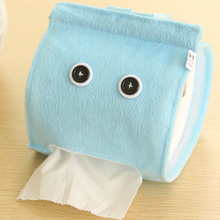 HENGHOME Plush Cloth Tissue Box Case Holder Toilet Paper Cover Bathroom/office/car/restaurant Hanging Paper Towel Tube On Sell(China)