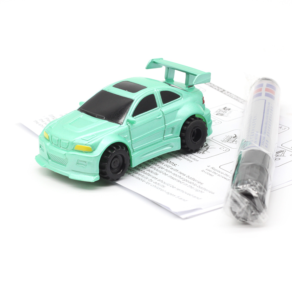 New Free Delivery Magic Pen Inductive Car Truck Follow Any Drawn Black Line Track Mini Toy Engineering Vehicles Educational Toy 6