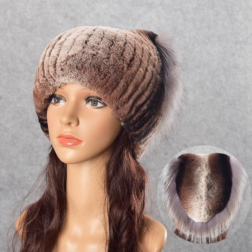 youe shone Fur Women winter fur hat natural rex rabbit silver fox fur caps for lady Russian female good quality warm hatsÎäåæäà è àêñåññóàðû<br><br>