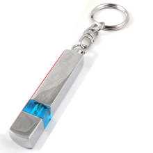 X Autohaux Phoenix Print Anti-Static Keychain Car Static Eliminator Discharger Blue Silver Tone High Voltage(China)