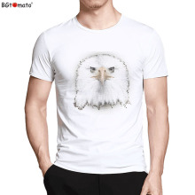 BGtomato T shirt New 3d printed t-shirts Bald Eagle fashion cool fitness male shirt brand camisa masculina t-shirt men(China)