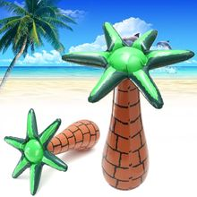 60cm Inflatable Floating Coconut Palms Tree Swimming Pool Beach Lawn Toy Decor Summer Party Events DIY Decoration Ornaments