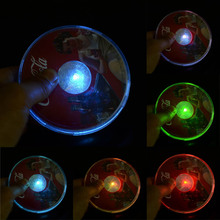 1X Seven-color LED Glowing Coasters Flashing Light Up Bottle Cup Tableware Mats luminous Bar Club Party Wedding Decorations(China)