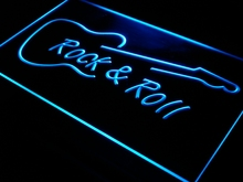 i303 Rock and Roll Guitar Music NEW LED Neon Light Sign On/Off Switch 7 Colors 4 Sizes