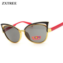 ZXTREE Fashion Cat Eye Frame Sunglasses For Kids Boys Girls Goggle Sun Glasses Children UV400 Eyewear Accessories Oculos De Sol