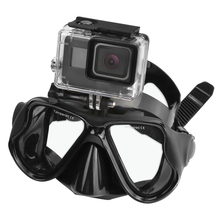 New Swimming Mask Tempered Glasses Diving Mask For Gopro HERO 5 4 3 Yi 4K SJ4000 H9 Camera Scuba Snorkel Mask Go Pro Accessory(China)
