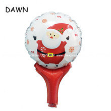 10pcs/lot Christmas santa claus foil balloons kids inflatable classic toys christmas decorations for home Decoration(China)