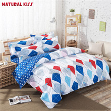 Blue Dolphin Stripe style Hello Kitty Home Bedding set 4pcs Houses Duvet cover set Bed sheet pillowcase Queen Full Twin Size(China)