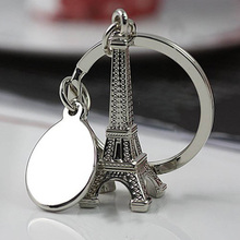 New Arrival Paris Eiffel Tower Keychain Novelty Items Innovative Gadget Trinket Souvenir Christmas Gift Key Ring HG-0701