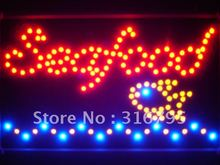 led090-r Seafood Restaurant Led Neon Sign WhiteBoard Wholesale Dropshipping(China)
