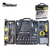 Hand Tools Set Kolner KTS 59 Household Tool Set Hammer Plier Screwdrivers Knife Wrenches Combination  59 Pieces Tools in Box
