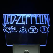 ws0061 Led Zeppelin Rock n Roll Punk Day/ Night Sensor Led Night Light Sign(China)