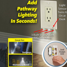 Decor LED Sensor Light Night Angel LED Plug Cover Snap On Wall Outlet Coverplate Kitchen Hallway Emergency Safety Lamps(China)