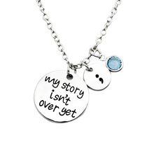 Fashion Jewelry My Story Isn't Over Yet Pendant Inspirational Self-Improvement Women Neckl(China)
