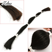 Zebra 1 Bundle 80-85cm/31.4''-33.4'' Violin Bow Hair Natural Black Horse Tail Hair For Violin Viola Cello Bow Replaced(China)