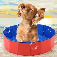 1 Pc Pet Products Large PVC Foldable Swimming Pool Bathtub For Small Dog And Cat Teddy Fold Bath Dog Accessories Best Sell(China)
