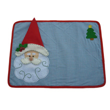 1 Set New Christmas Placemats With Napkin Santa Claus Plaid Placemats Eat Mat Dinner Table Decoration For Home Kitchen Table Pad
