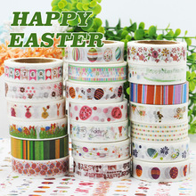 (5 pieces/lot) Happy Easter Washi Tape Masking Tape DIY Scrapbooking Sticker 15MM*10M