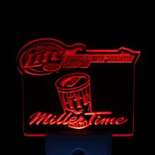 ws0213 Miller Lite Guitar Time Beer Day/ Night Sensor Led Night Light Sign