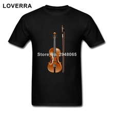 Fine Musical Instrument Violin T Shirt Men O-Neck Summer Fitness Adult TShirt Cotton Short Sleeve Plain Brand Clothing
