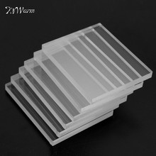 KiWarm 6pcs Brand New Clear Acrylic Stamping Rubber Template Plexiglass Thin Blocks Pads Card Craft 5mm Art DIY Home Decor Craft(China)