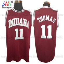 2017 Men Dwayne Cheap Throwback Basketball Jersey Isiah Thomas #11 1981 Indiana Hoosiers College Jersey Retro Vintage Shirts