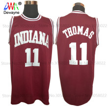 2017 Men Dwayne Cheap Throwback Basketball Jersey Isiah Thomas #11 1981 Indiana Hoosiers College Jersey Retro Vintage Shirts(China)