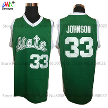 2017 Men Dwayne Cheap Throwback Basketball Jersey Magic Earvin Johnson #33 College Jerseys Retro Shirts Green Stitched For Mens(China)
