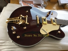 Chinese OEM Music Instruments Hollow Body Jazz Guitar G6122 Gretsch Electric Guitar In Stock For Sale Free Shipping(China)