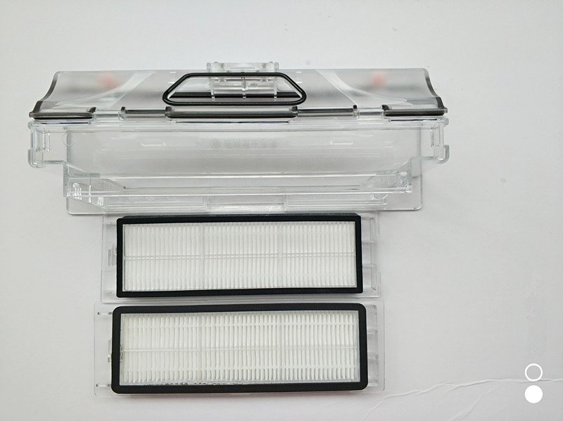 1pcs robot Vacuum Cleaner Dust Bin Box  mi box  +2pcs HEPA Filter for xiaomi robotisc Sweeper mi robot <br>