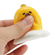Squishy Lazy Egg 6cm Phone Bag Strap Soft Squeeze Toy Collection Gift Decor