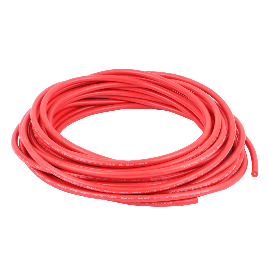 UXCELL 10M 32.8Ft 14Awg 30Kv Electric Copper Core Flexible Silicone Wire Cable Red<br>