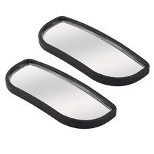 UXCELL 8 X 3Cm Plastic Frame Adjustable Rearview Dead Angle Car Blind Spot Mirror Pair