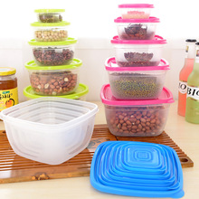 FUNIQUE Multi-function Storage Boxes Sets Food Fresh Keeping 5 Sizes/Set Snack Container Damp-proof Microwave Oven Plastic Box(China)