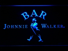 439 BAR Johnnie Walker Whiskey LED Neon Sign with On/Off Switch 7 Colors 4 Sizes to choose