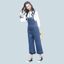 Women Ladies Casual Fashion Jean Look Denim Blue Sleeveless Overalls Dungarees Playsuit Bodysuit Suspenders Trousers Jumpsuit(China)
