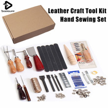 Buy 35Pcs/Set DIY Leather Craft Tool Set Stitching Carving Working Sewing Handmade Leather Goods Hand Sewing Set for $43.20 in AliExpress store