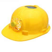 NEW Safurance Yellow Solar Power Safety Helmet Work Hard Hat Solar Panel Cooling Fan Workplace Safety